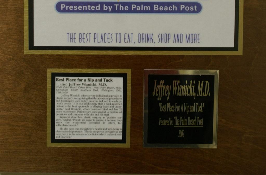 Palm Beach Post Award Cutout
